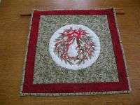 Winterberry Wreath Quilted Wall Hanging
