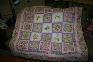 Rose Floral Quilt