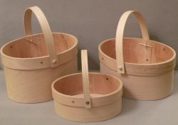 Oval Baskets with band and handle