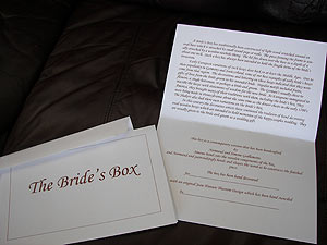 Bride Box Card