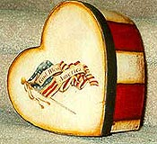 Paper Mache Heart Box