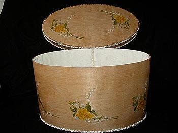 XL Bride's Box - Yellow Pietre Dura Rose
