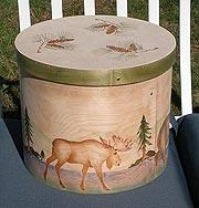 Moose & Pine Cone Accent Box