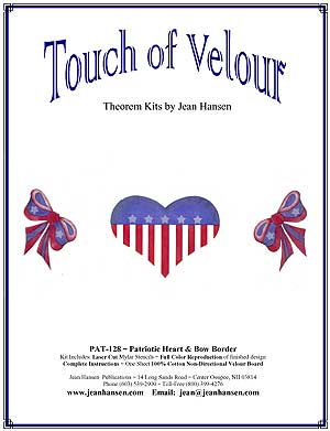 Patriotic Heart and Bow Border - PT-128